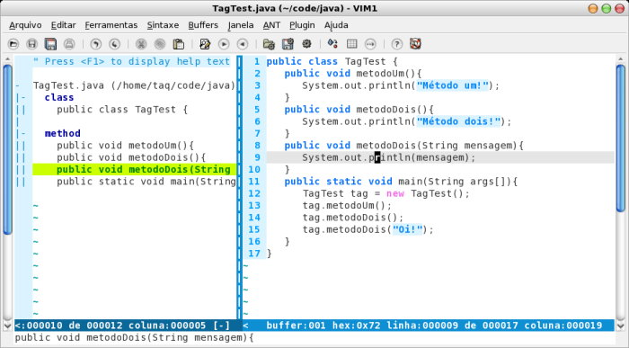 Plugin taglist com Java